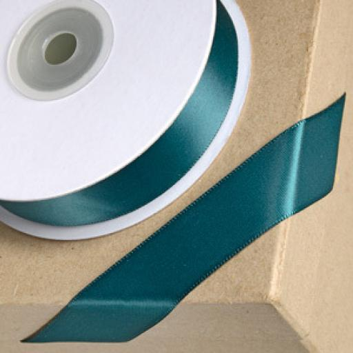 Satin Ribbon Bottle Green 15mm x 1m