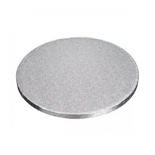 9 Inch Round 12mm Cake Drum - Silver