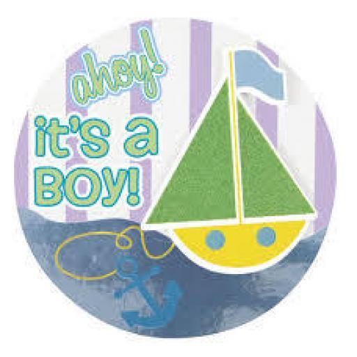 It s A Boy Baby Shower Badge