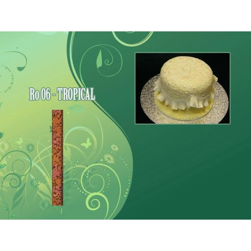 Textured Rolling Pin 16in Tropical