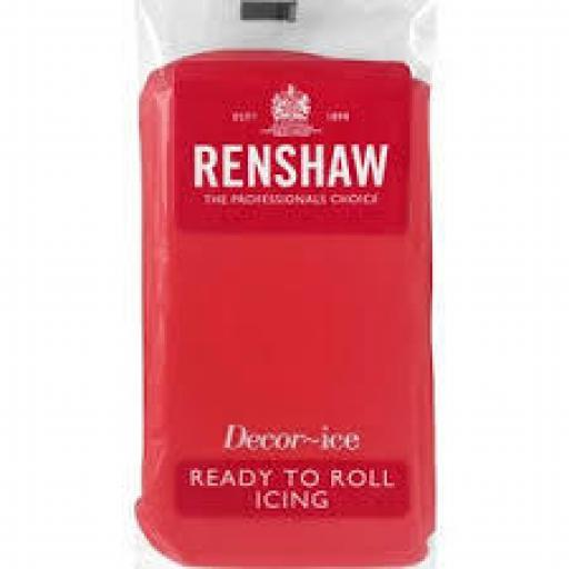 Renshaw Poppy Red Ready To Roll Sugar Paste -500g