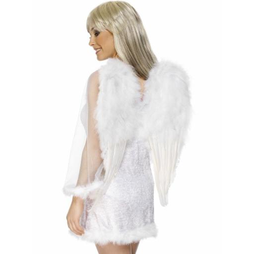 Extra Large Feather Angel Wings White
