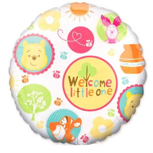 Welcom Little One Baby Shower Foil 18 inch Balloon Winnie The Pooh