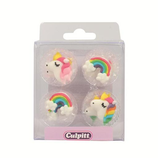 Rainbows & Unicorns Sugar Pipings - Pack of 12