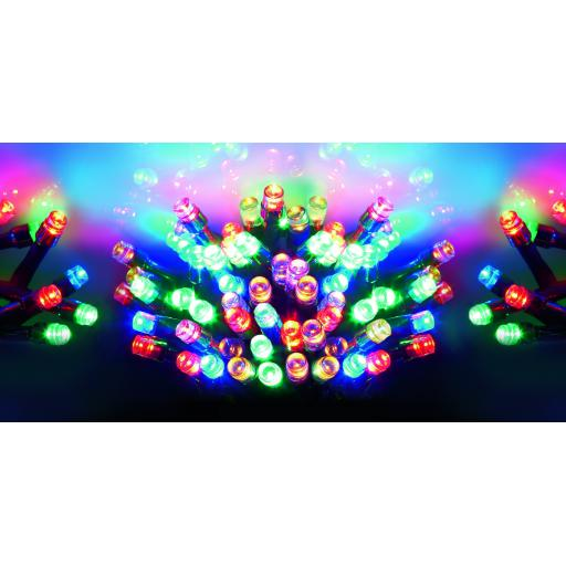 20 Metre Multi Action 200 LED Multi-coloured light
