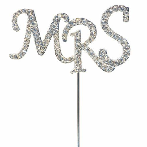 Diamante MRS Sign Cake Topper Decoration