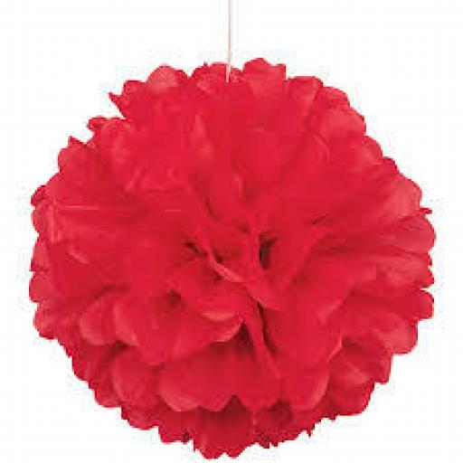 Puff Ball Tissue Decoration 16inch