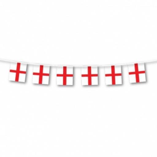 England Flag Bunting - 7m x 30cm