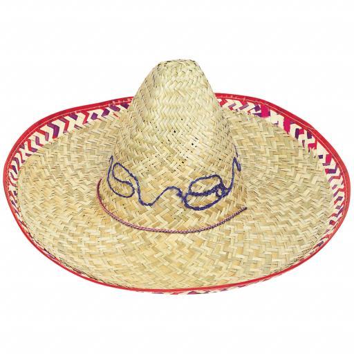 Adult Straw Sombrero Hat