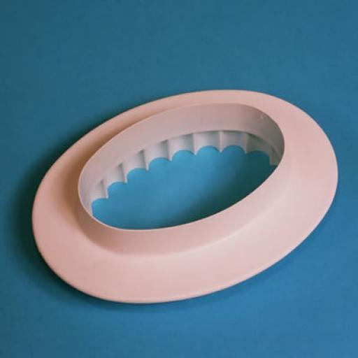 PME Plain Fluted Oval Plaque 165mm