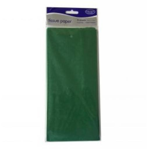 Green Tissue Paper 5 sheets 50 x 75cm