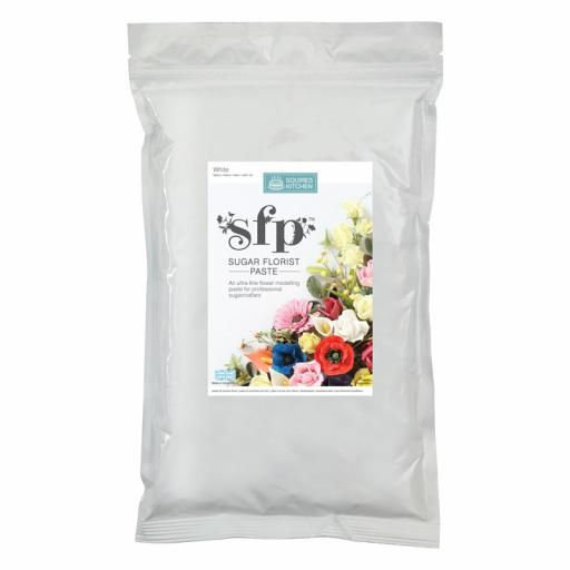 Sugar Florist Paste (SFP) Squires Kitchen - White - 1kg