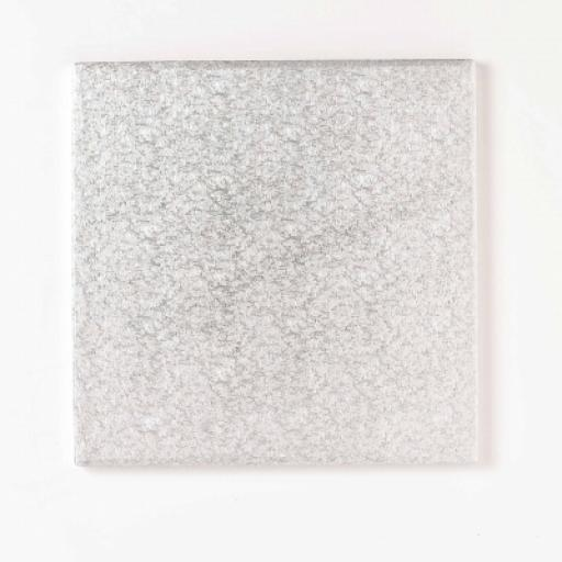 6 Inch Square 12mm Cake Drum - Silver