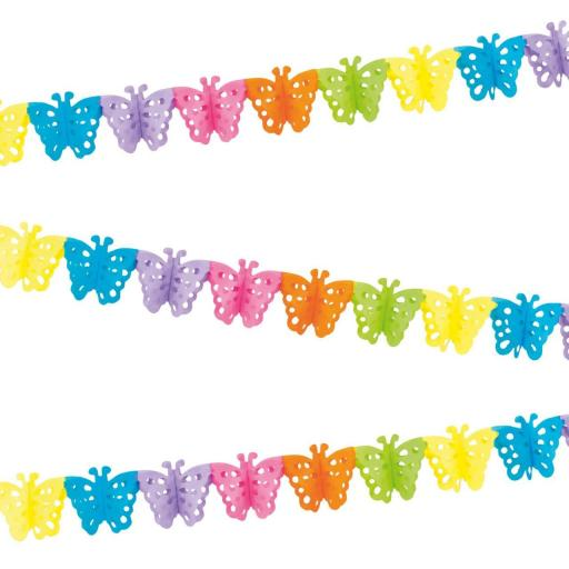 4M Rainbow Paper Butterfly Bunting
