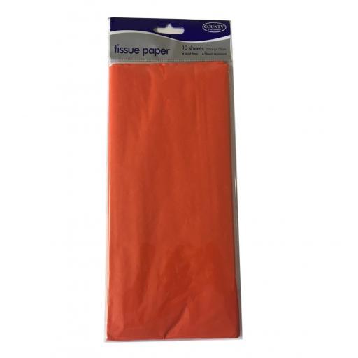 Orange Tissue Paper 10 sheets 50 x 75cm