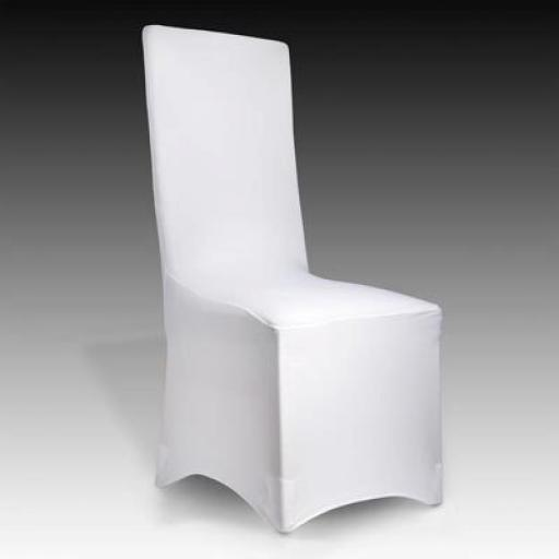 Stretch chair cover white