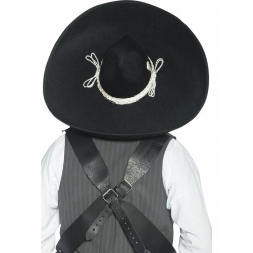 Authentic Mexican Bandit Sombrero, Black