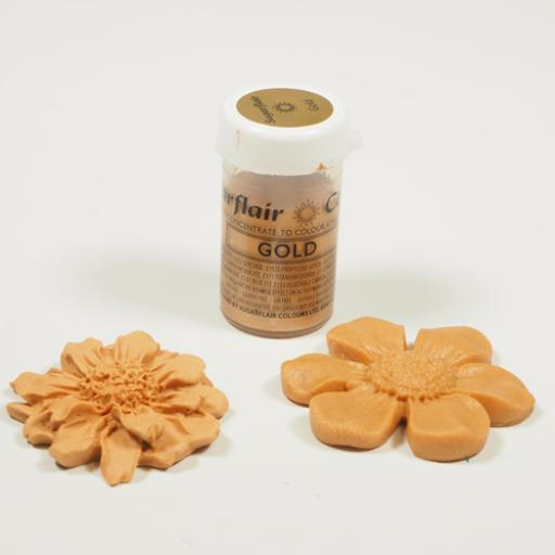 Sugarflair Paste Colours Gold Satin - 25g