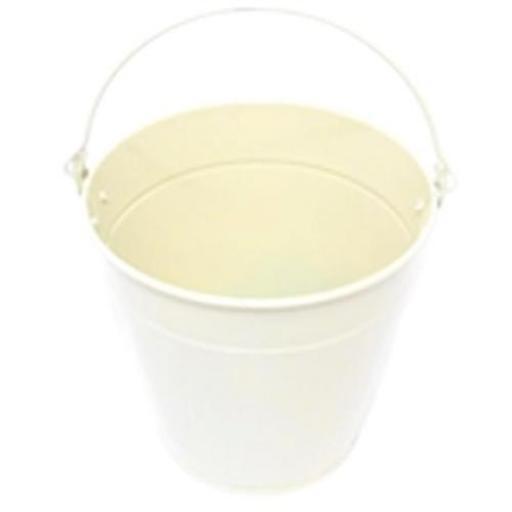 Metal Bucket - Cream 13cm