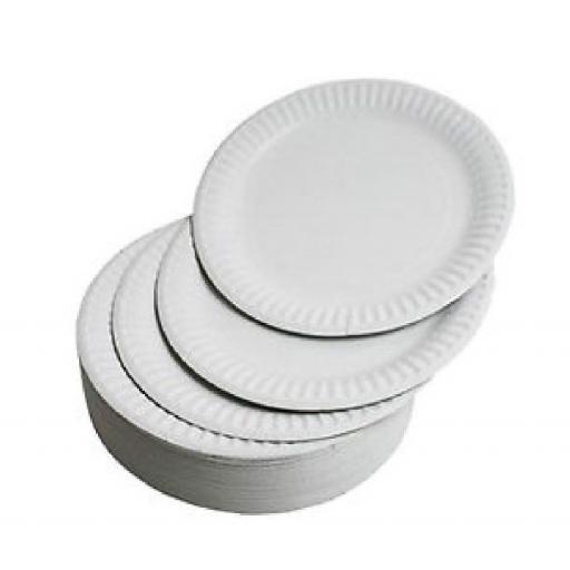 """White Paper Plates 9"""" -100/pkg"""