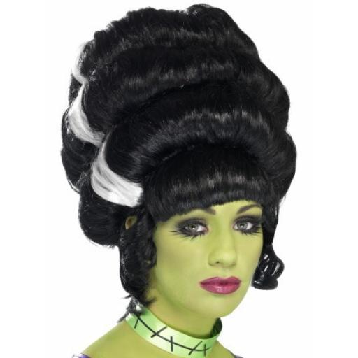 Pin Up Frankie Wig with White Streaks