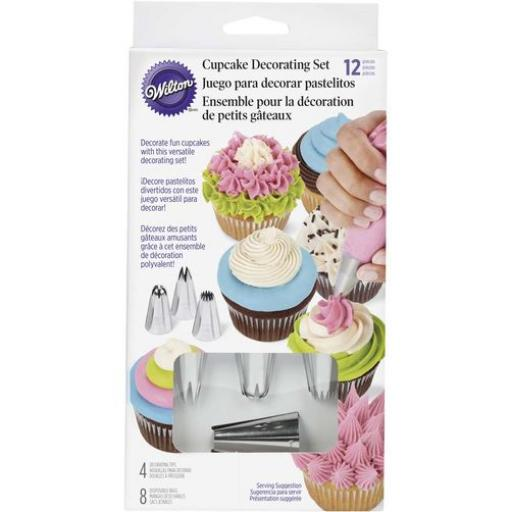 12 Piece Cupcake Piping Tip Set