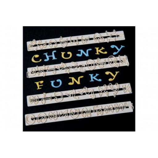 FMM Chunky Funky Alphabet & Number Cutters Set