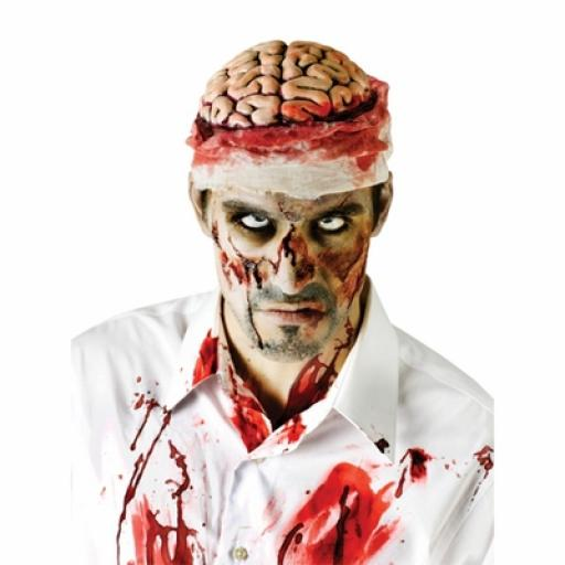 Zombie Brain with Bloody Bandage