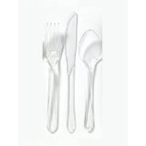 Super Strong Plastic Serving Cutlery Set of 4
