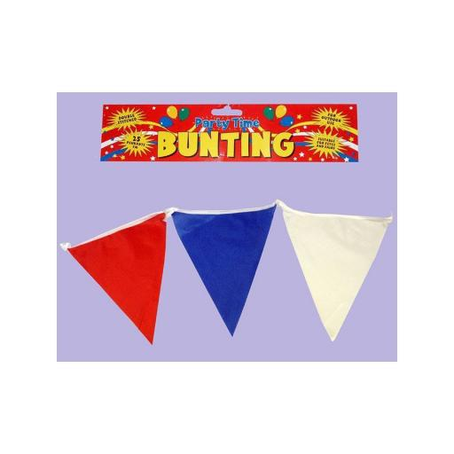 Bunting 25 Pennants 7M Red & Blue & White