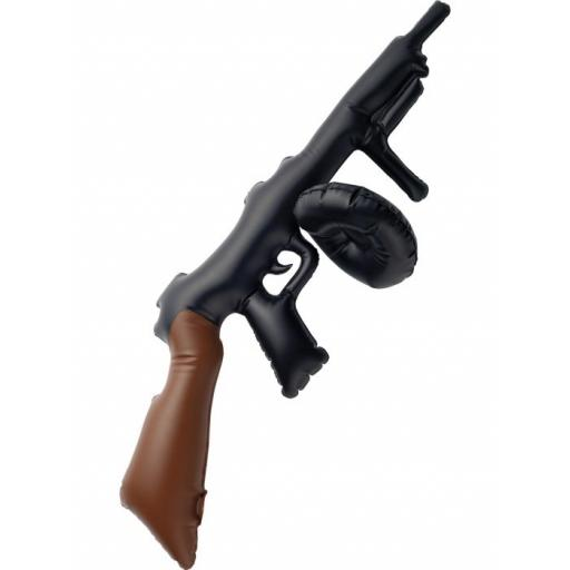 Inflatable Tommy Gun, Black, 75cm / 30in