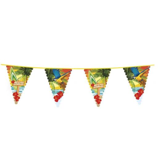 Hawaiian 6m Giant Bunting Beach Party Decoration