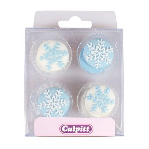 Snowflake Sugar Pipings 12 piece