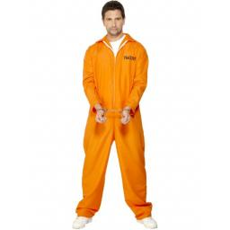 Escaped Prisoner Boiler Suite Orange Adult Medium Size