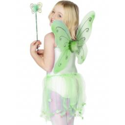 Green Butterfly Wings & Wand 38x42 cm