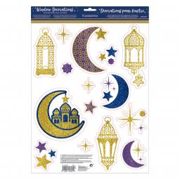 Eid Celebration Window Decorations 30cm x 43cm 15pcs