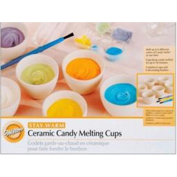 Wilton Ceramic Candy Melting Cups and Bowls, 6/Pack