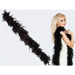 Black Feather Boa 180cm