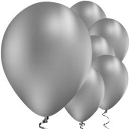 "Silver Chrome Balloons - 11"" Latex qualitex 25pcs"