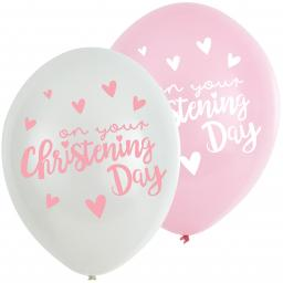 "Christening Church Pink Latex Balloons 11""/27.5cm 6pcs Helium Quality"
