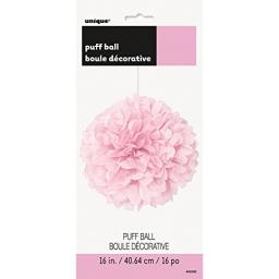 Puff Ball Paper Decoration 16 inch Baby Pink