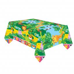 Jungle Friends Plastic Tablecover 1.8m x 1.2m