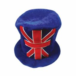 Great Britain Union Jack Felt Top Hat - 27.9cm x 34.9cm