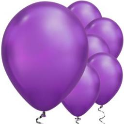 "Purple Chrome Balloons - 11"" Latex 100pcs Qualitex"