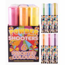 Colour Powder Cannons 6 Assorted