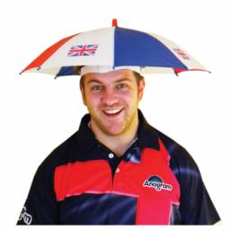 Great Britain Union Jack Umbrella Hat - One size fits most
