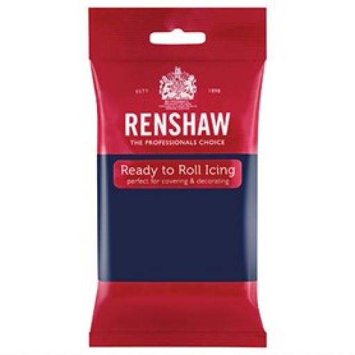 Renshaw Navy Blue Ready to Roll Sugar Paste - 250g