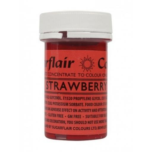 Sugarflair Spectral Paste Strawberry Colour 25g