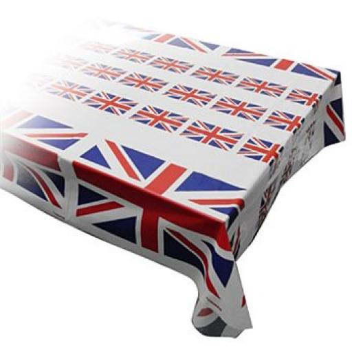 Union Jack Plastic Table Cover 1.2m x 25m (4Ft x 82Ft)