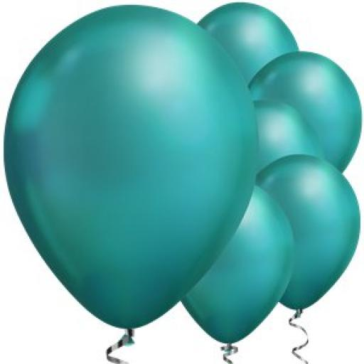 "Green Chrome Balloons - 11"" Latex Qualitex 25pcs"
